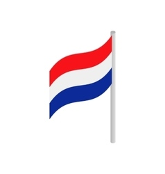Netherlands country flag icon vector image