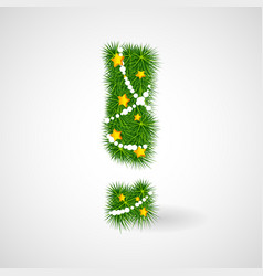 new year tree exclamation mark vector image