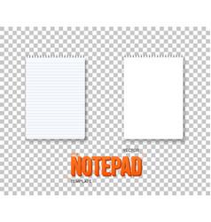 Notepad set realistic empty mockup vector