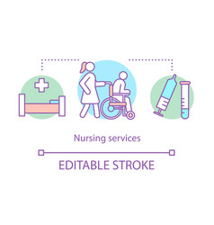 Nursing service concept icon vector