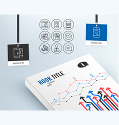 Phone communication presentation and verify icons vector