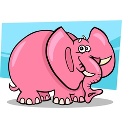 pink elephant cartoon vector image