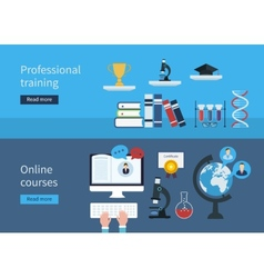 Professional training and online courses vector image