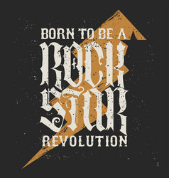 Rock star lettering vector