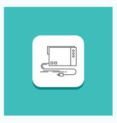Round button for audio card external interface vector