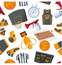 Seamless pattern at basketball theme vector
