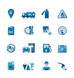 Set of Fuel Station Icon vector image