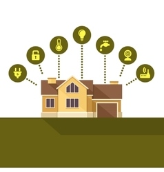 Smart house technology infographic flat style vector