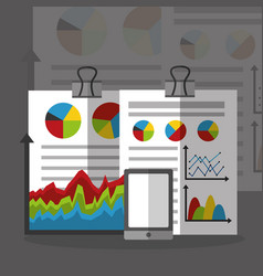 Statistics data business vector
