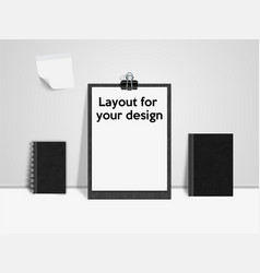 Top view modern and stylish workplace vector