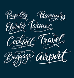travel and airport typography vector image