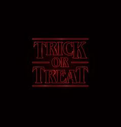 trick or treat halloween text design with red vector image