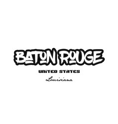 united states baton rouge louisiana city vector image