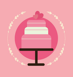 wedding cake design vector image