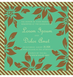 Wedding card green vector