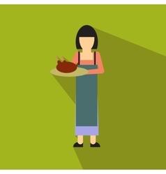 Woman flat icon vector image