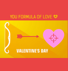 yellow valentines day background vector image