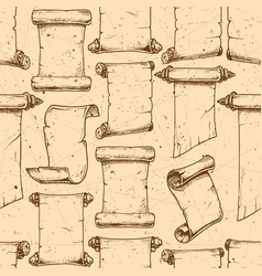 pattern with old scroll vector image