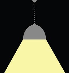 chandelier on black vector image
