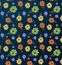 flower pattern Vintage seamless background vector image