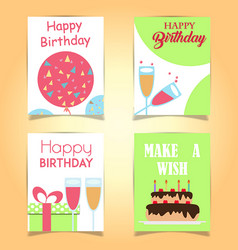 happy birthday cards vector image vector image