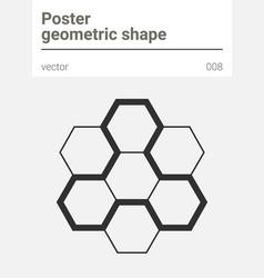 poster minimal geometric shape vector image vector image