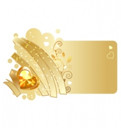 ribbon and jewel design vector image vector image