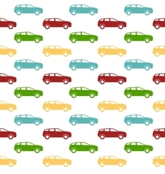 Seamless pattern Colorful Car silhouette vector image