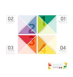 Abstract infographic Design Minimal style template vector image vector image