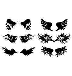 Artistic wings vector image