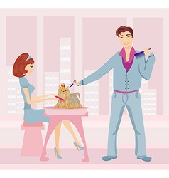 beauty salon for dogs vector image vector image