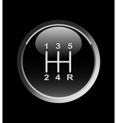 gear stick vector image vector image