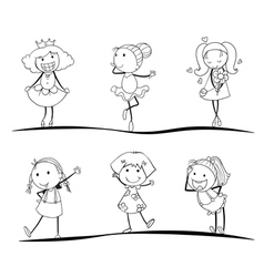 kids sketches vector image