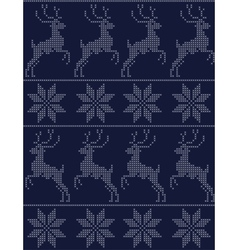 scandinavian seamless pattern blue vector image