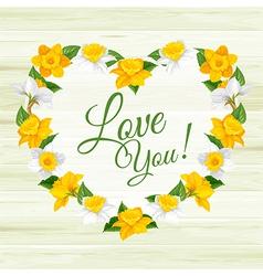 Daffodils frame vector image