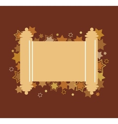 david stars background with Torah in the midle vector image vector image