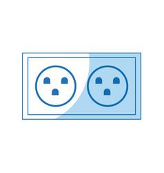 electric socket power double design vector image
