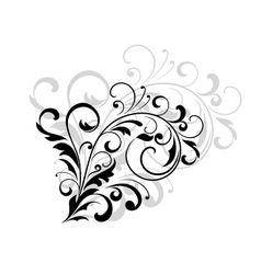Floral design element with swirling leaves vector image