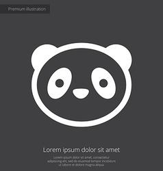 panda premium icon white on dark background vector image