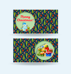 two holiday banner set vector image