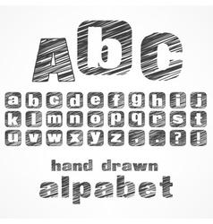 a b c alphabet vector image
