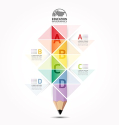 Abstract infographic design minimal style pencil vector