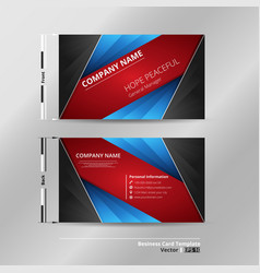 Abstract of modern gradient blue red black vector