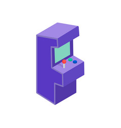 Arcade game machine icon isometric 3d style vector