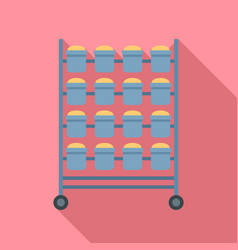bakery bread stand icon flat style vector image