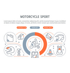 banner motorcycle sport vector image