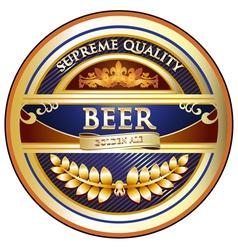 Beer Label - Ornate Vintage Design vector image