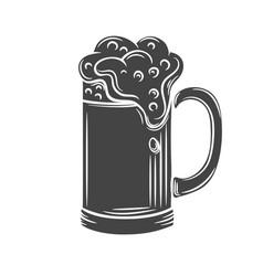 beer mugs glyph icon vector image