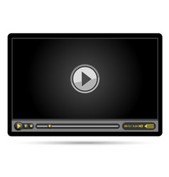 black video player vector image