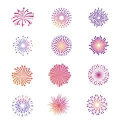 Bright festive fireworks star explosion vector